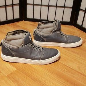 Vans Gunmetal Gray Leather Shoes